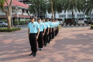 การฝึกข้าราชการตำรวจใหม่ในสังกัด บก.อก.บช.ส. ฝึกตามแบบฝึกตำรวจ
